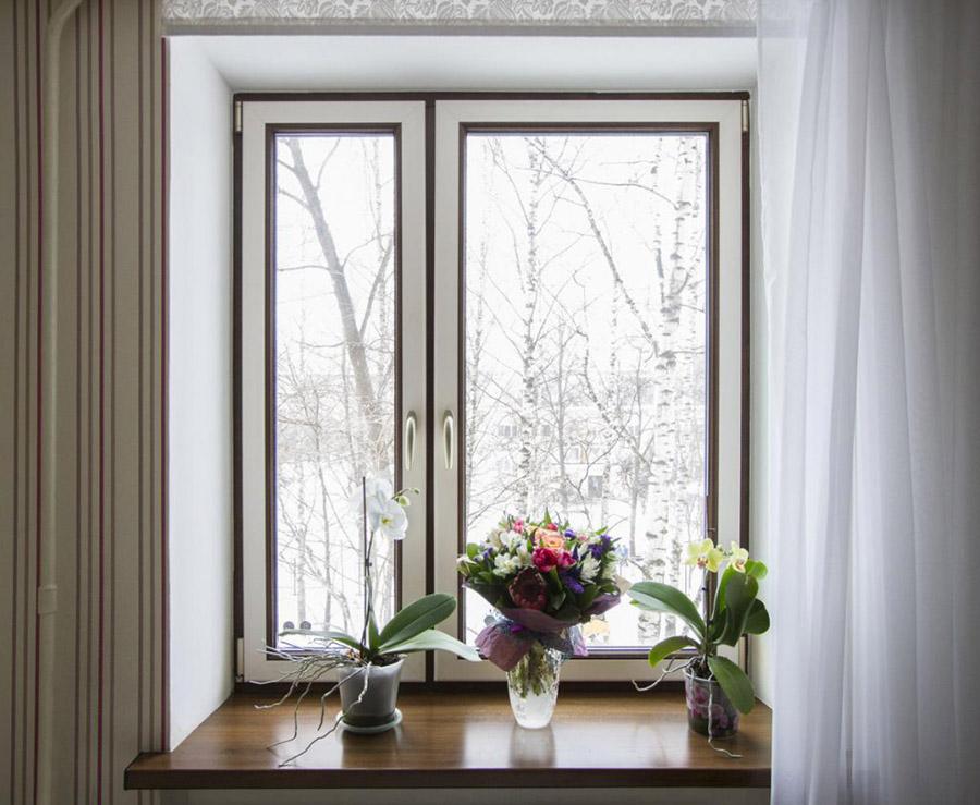 Элитная фурнитура и подоконники на окнах