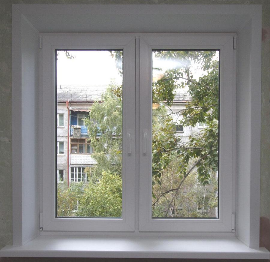 Отделка откосов на окнах
